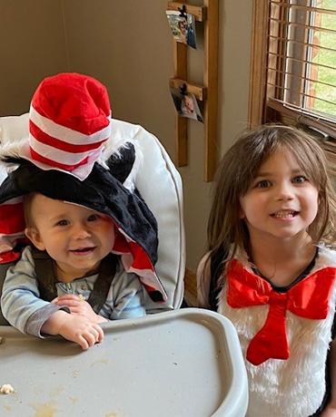 kids in dr suess hats